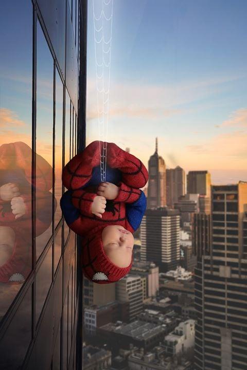 Image of Little Spiderman Jammy/Hat Set