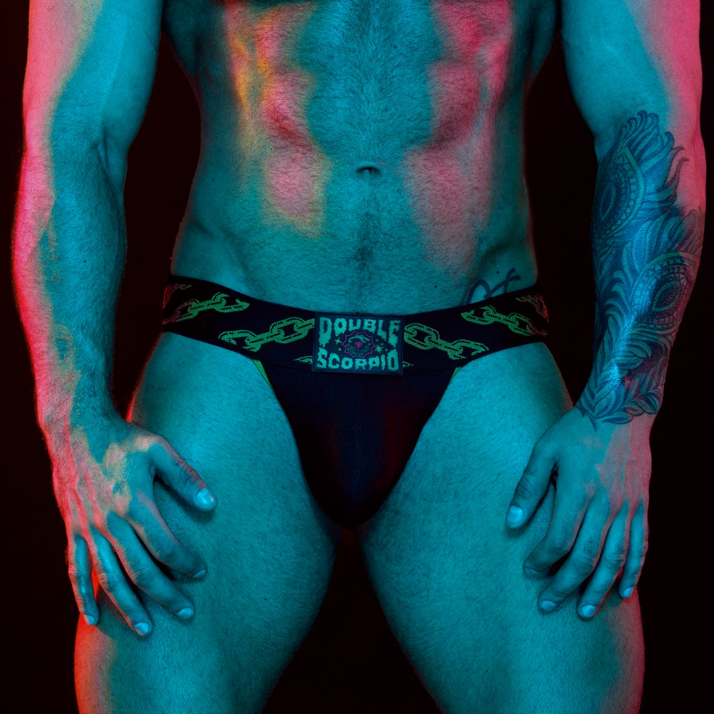 Image of Double Scorpio – Gold Chain Jock