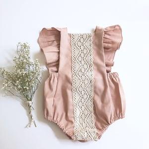 Image of Rose linen romper