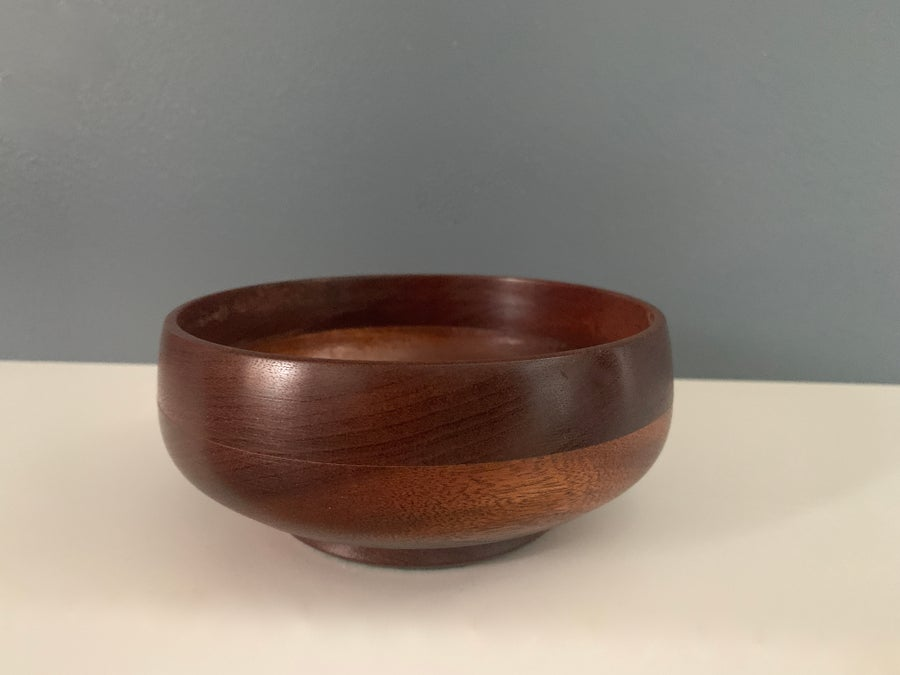 Image of Handmade Handcrafted Coin Bowl And Candle Holder In Sapele Wood