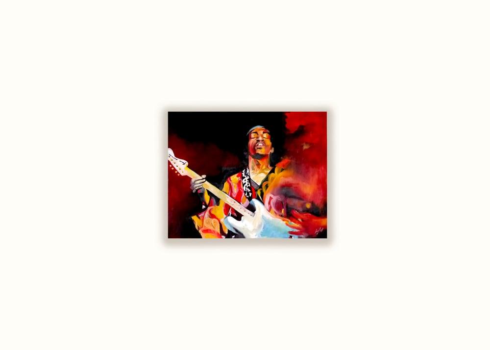 Image of Jimi Hendrix | Print of Original Oil Painting