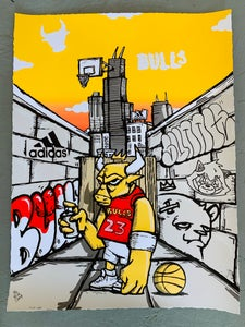 "Image of Officially Licensed Chicago Bulls ""23"" Variant Edition by JC Rivera"
