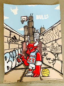 """Image of Officially Licensed Chicago Bulls """"23"""" Original Edition by JC Rivera"""