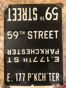 Image of 1968 RedBird New York Subway Sign w/ Destinations: 59th ST LEXINGTON AV, 22x30 inches