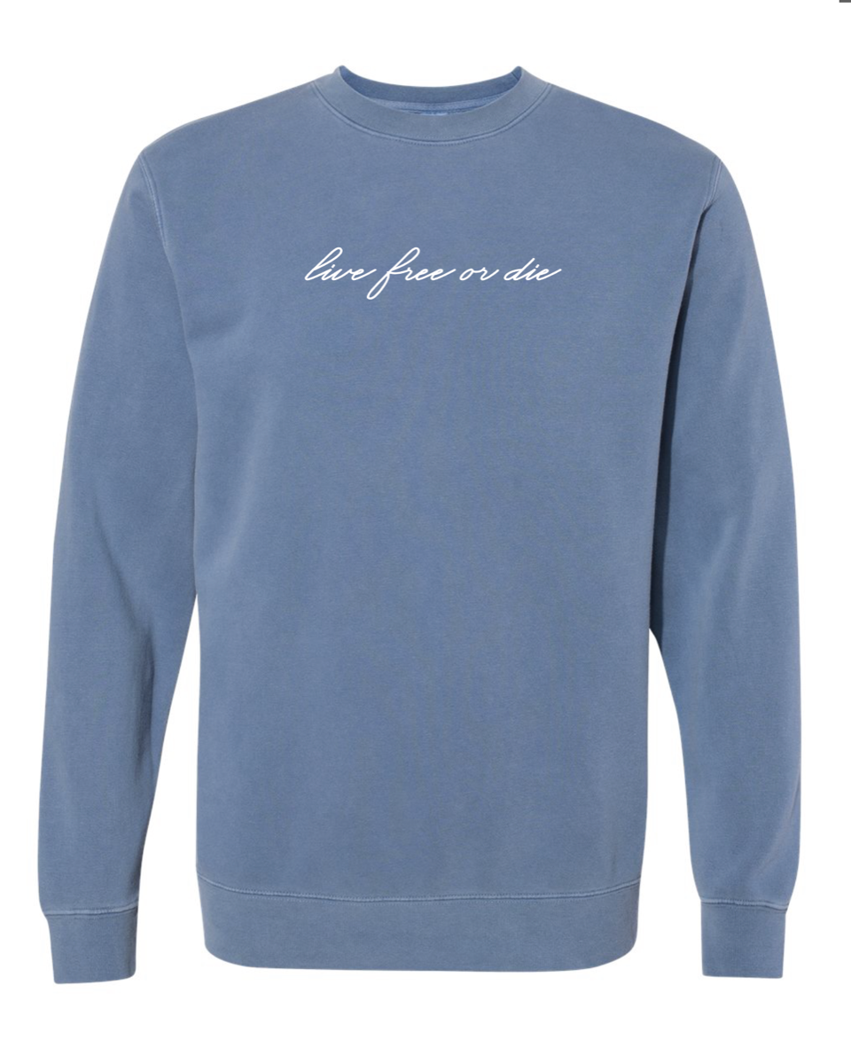 Image of Pigment Slate LFOD hand script crew neck