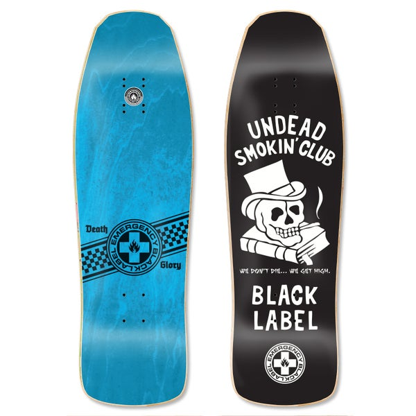 "Image of ""Undead Smokin' Club"" 9.5″ x 31.5″ Black deck"