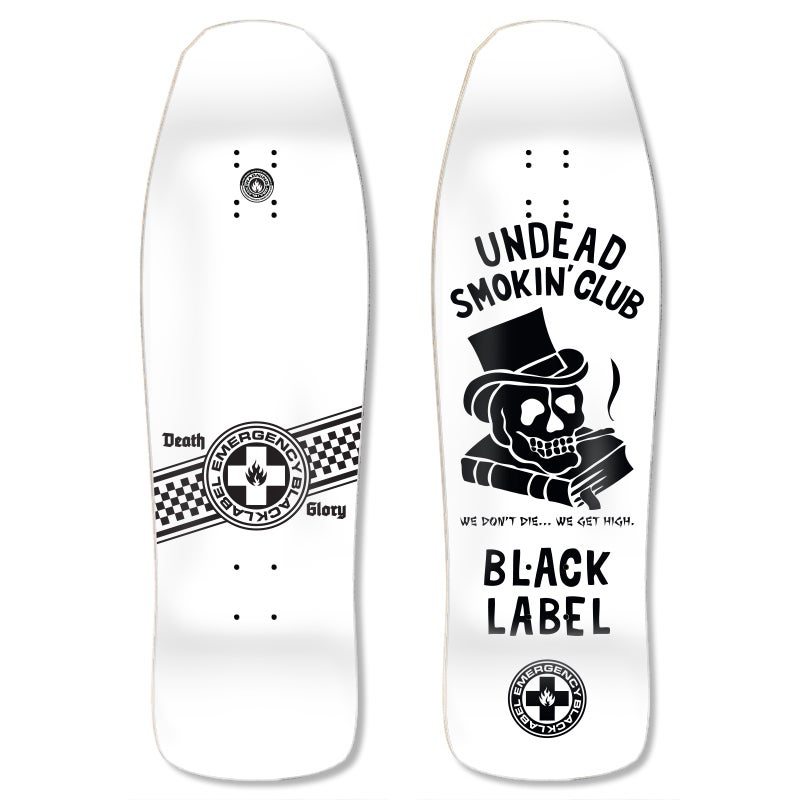 "Image of ""Undead Smoking Club"" 9.5″ x 31.5″ White Dip deck"