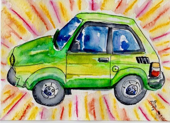 Image of Green Car Prototype