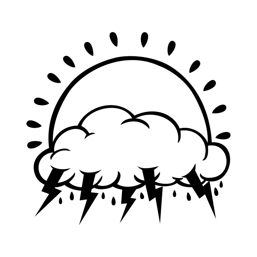 Image of LIGHTNING CLOUD VINYL DECAL