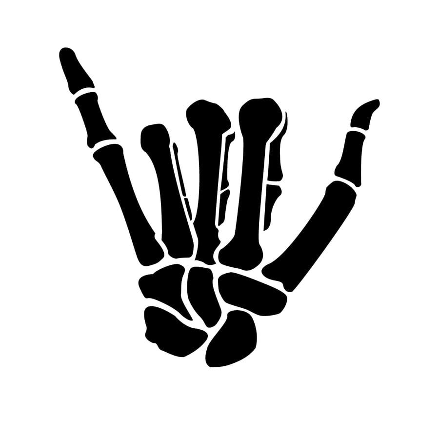 Image of SHAKA BONES VINYL DECAL