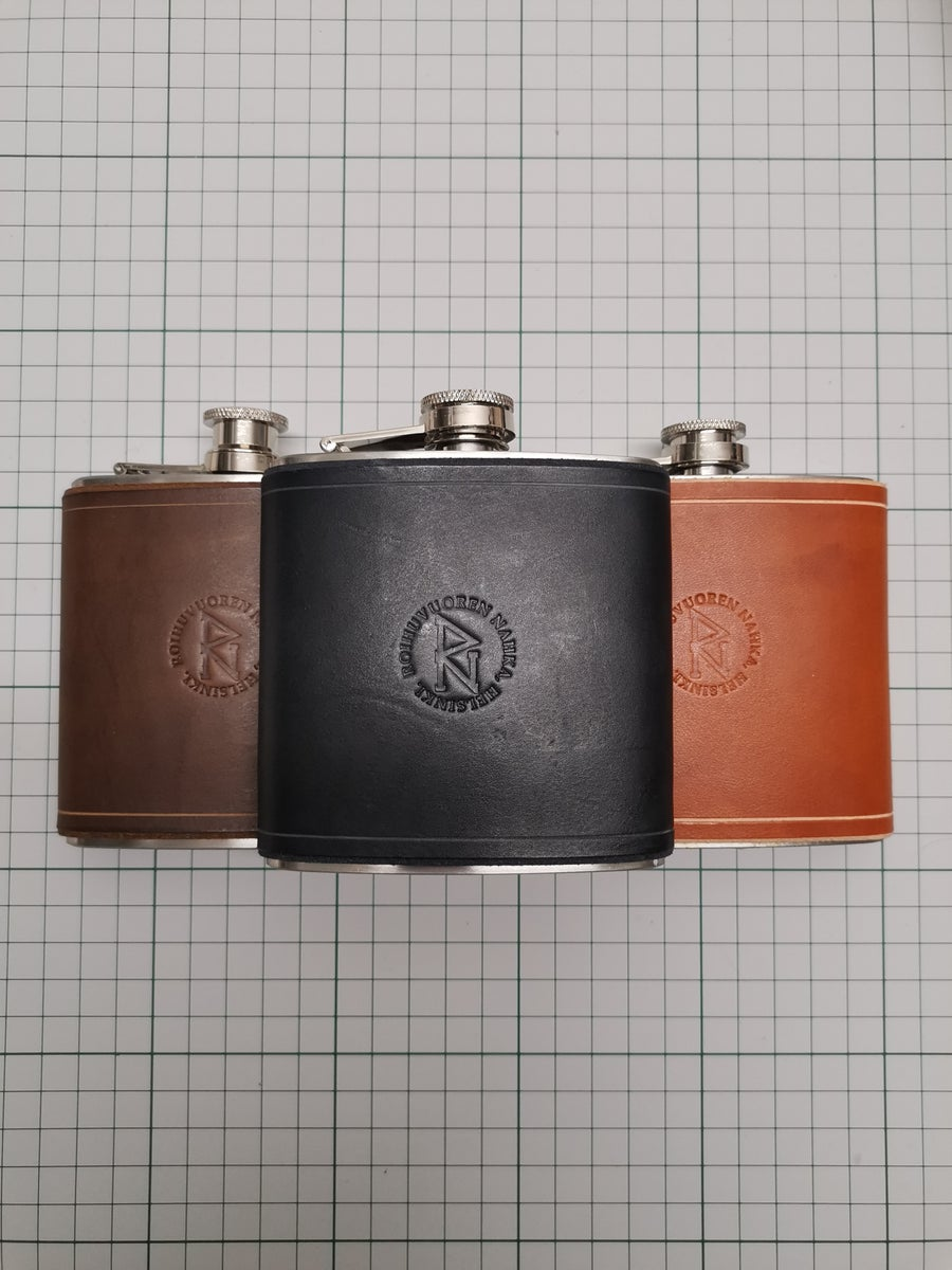 Image of Flask (Brown, dark brown and black)