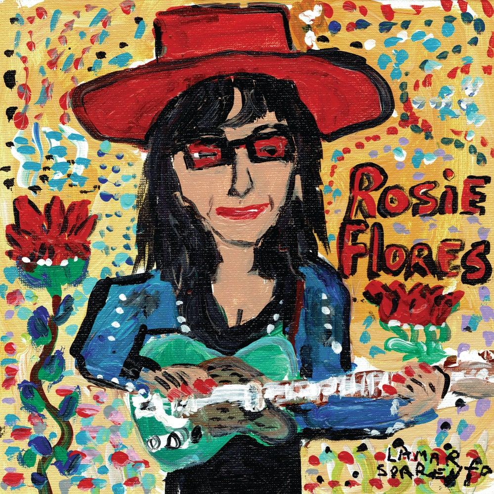 "Image of Rosie Flores - Long White Cadillac b/w Hound Dog (Clear 7"" Vinyl Single)"