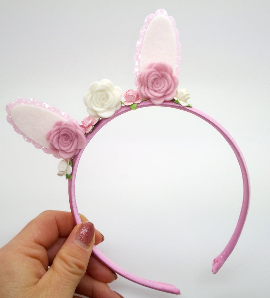 Image of Pink Bunny Ear Headband