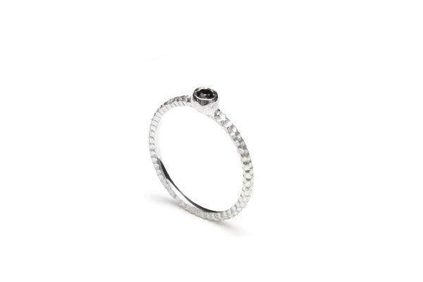 Image of Save ring with black spinel