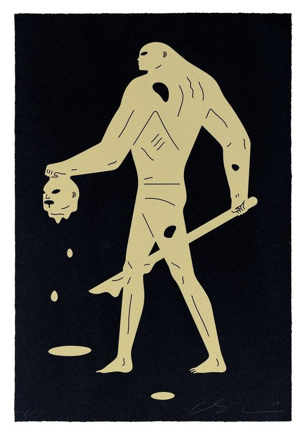 "Cleon Peterson ""Headless Man (Black & Gold)"""