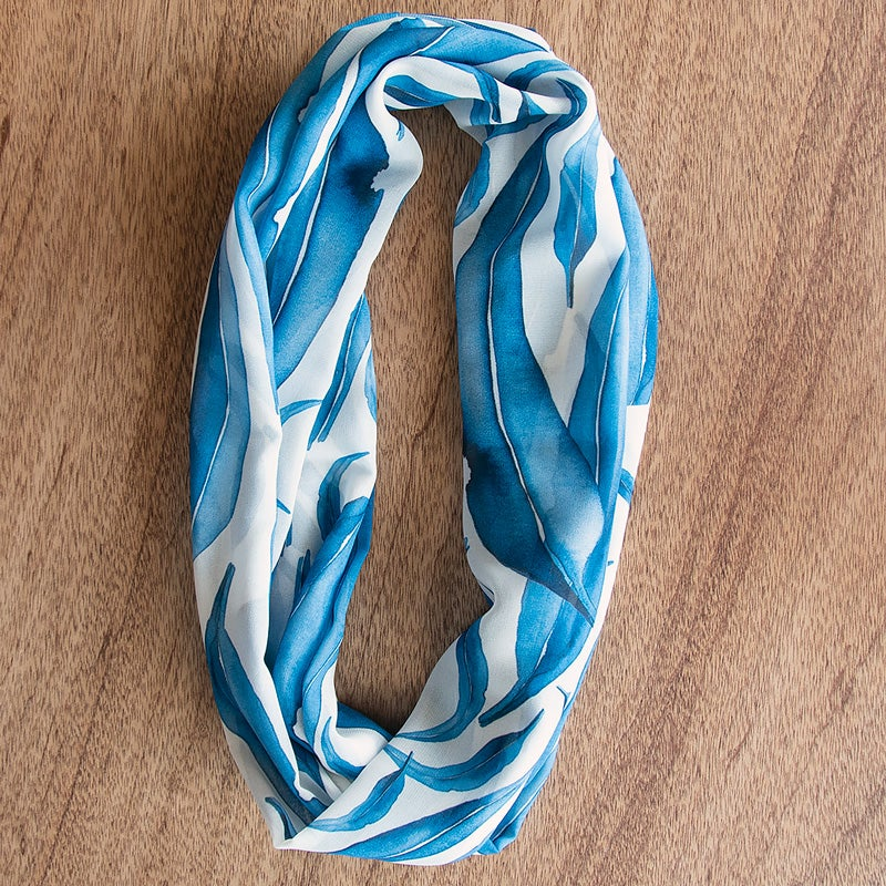 Image of Australian Made Infinity Scarf - Blue Gum Leaves