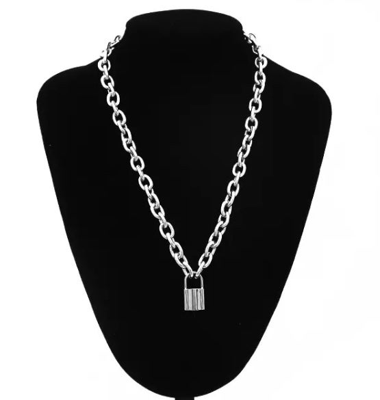 Image of Padlock chain choker / necklace