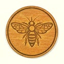 Engraved Bee Drinks Coasters - set of 4.