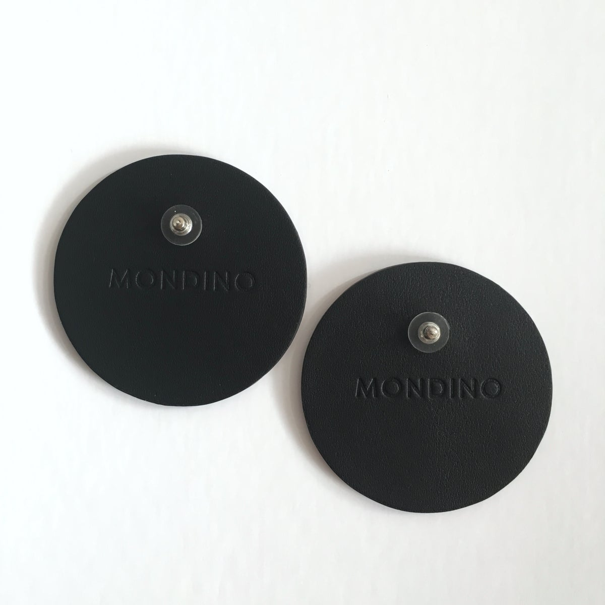 Image of BLACK AND SAGE DISC EARRINGS