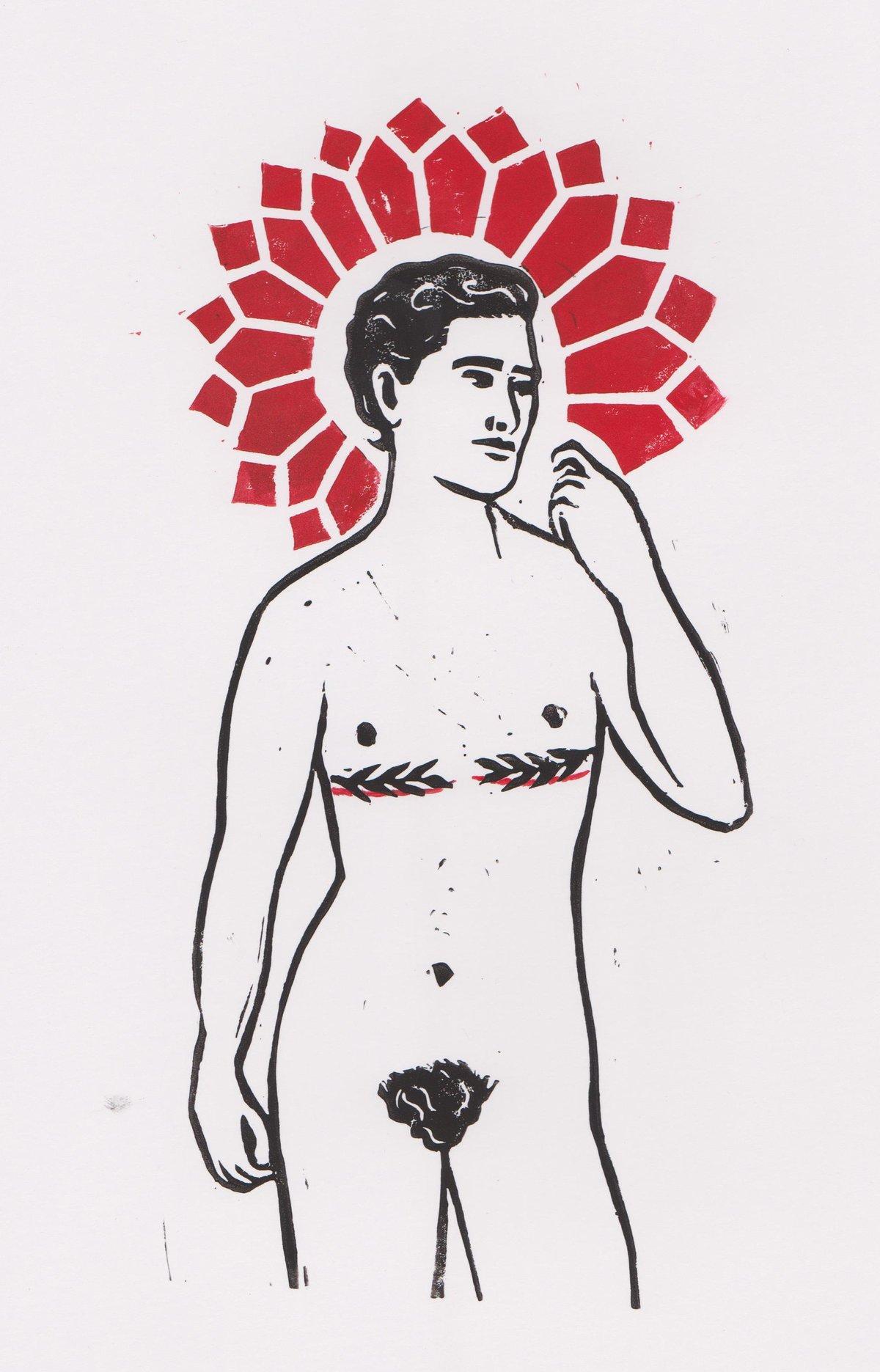 Image of Non-binary lino print
