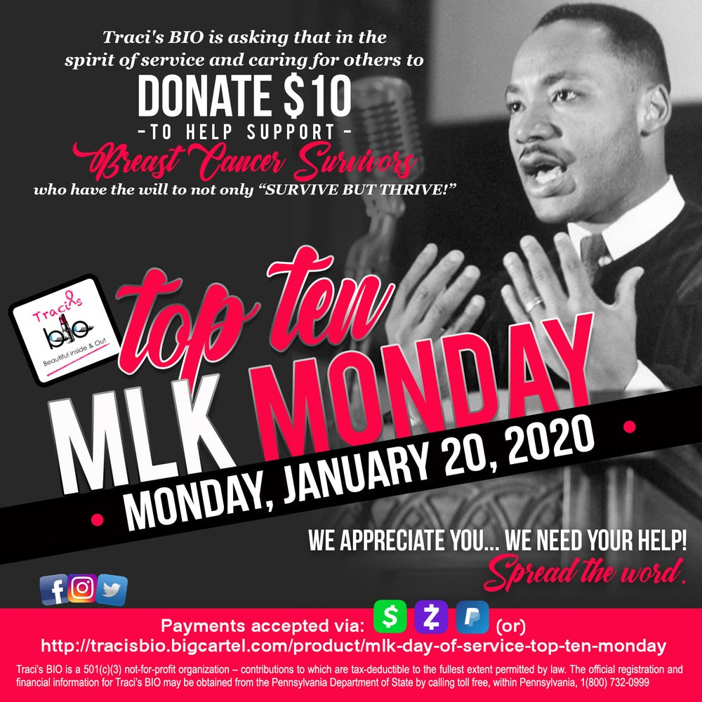 MLK Day of Service Top Ten Monday