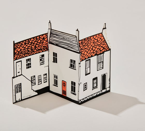Image of Fife cottages fold out card