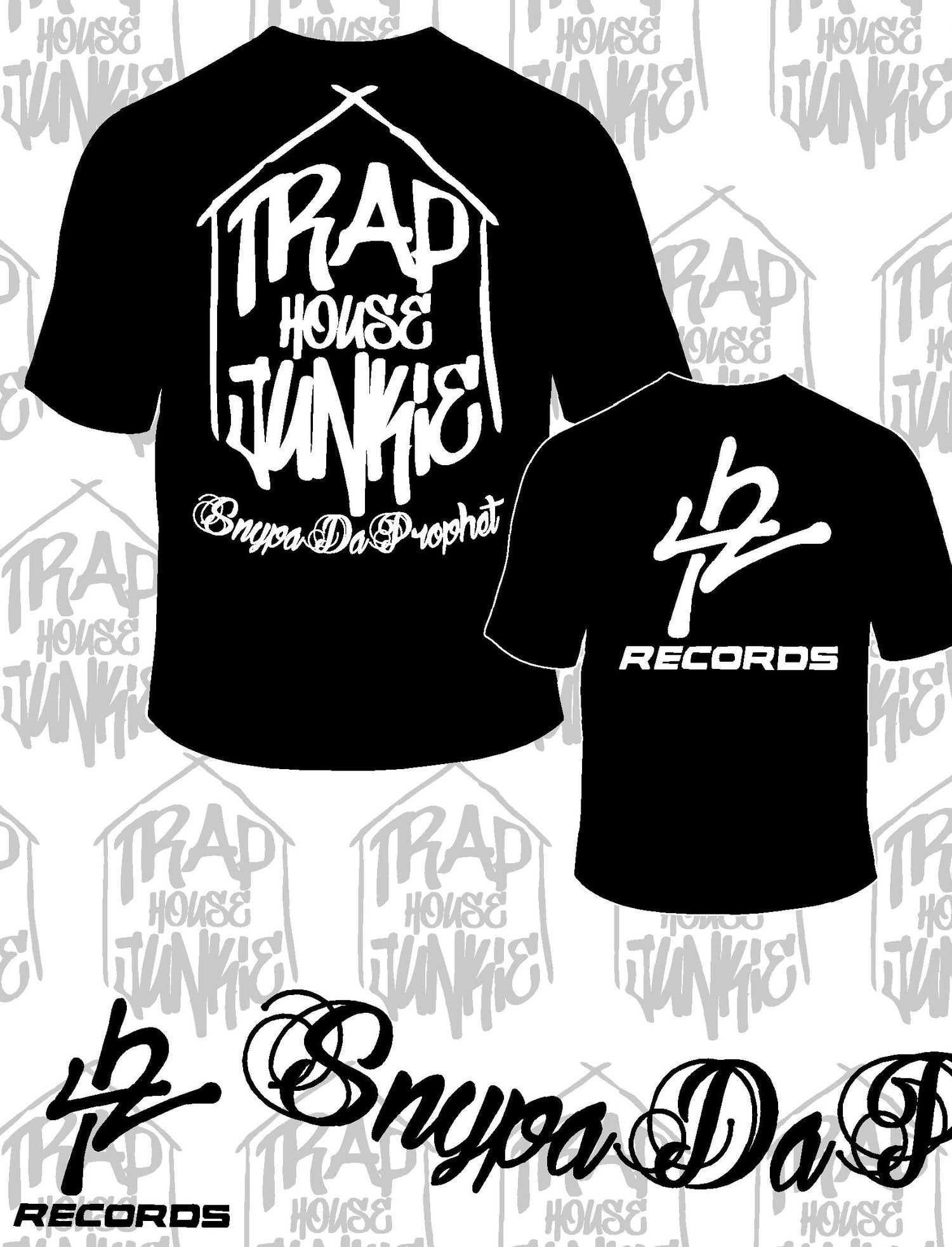 Image of Trap House Junkie / 42 Records T-Shirt