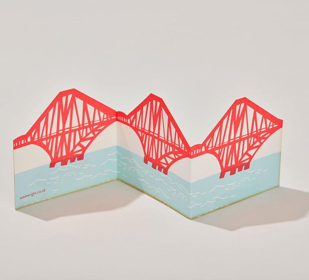 Image of Forth Rail Bridge fold out card