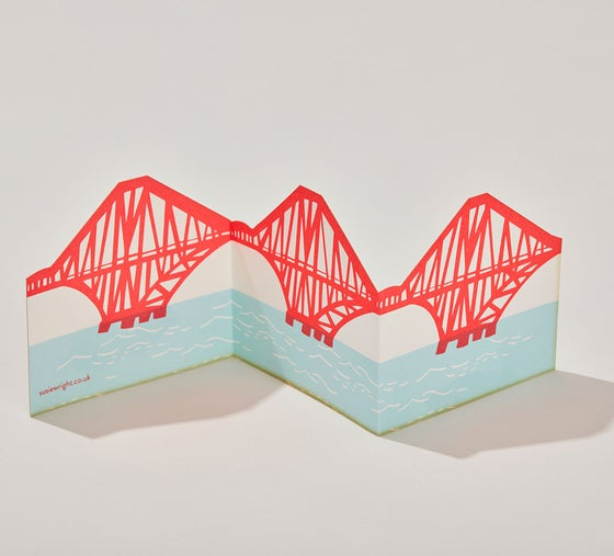 Image of Forth Rail Bridge fold out card