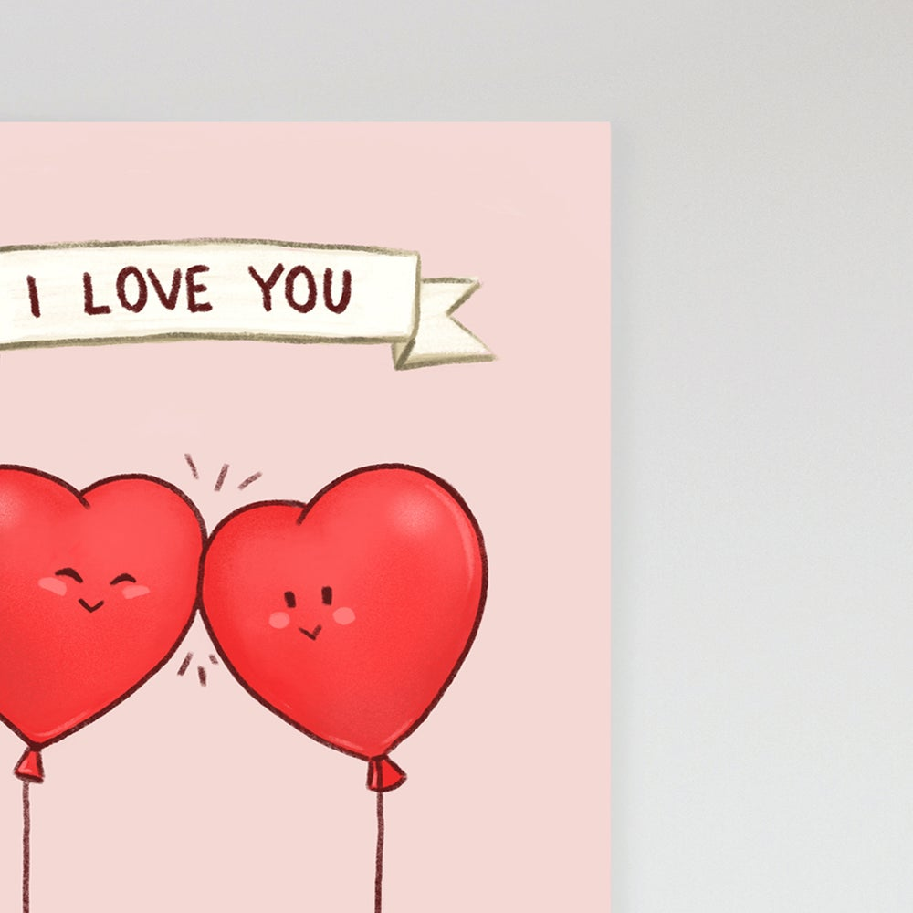 Image of Balloon Love Valentines Card