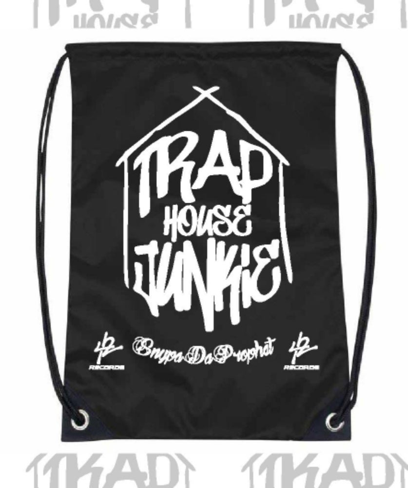 Image of Trap House Junkie Drawstring Bag