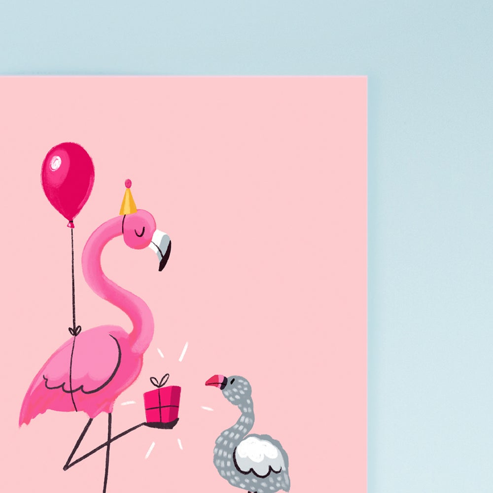 Image of Flamingo Birthday Card