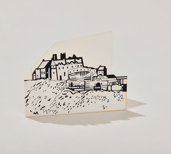 Image of Edinburgh Castle cut out card