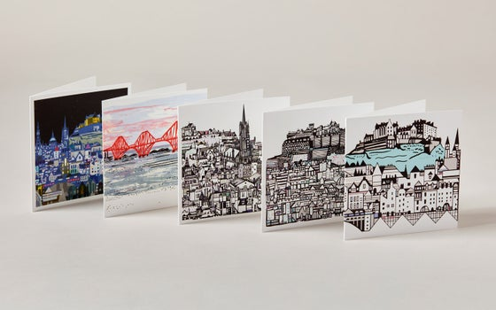 Image of Square Greetings cards ~ Edinburgh selection 01