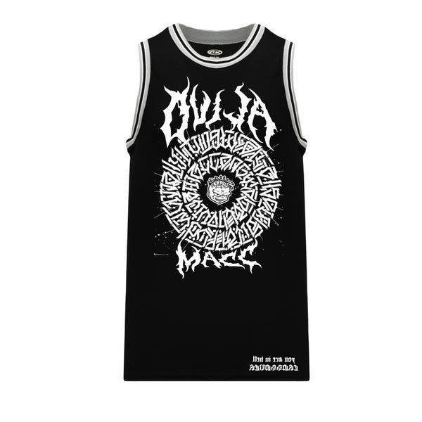 Image of The Secret Glyph of Wasteland - Warriorz Basketball jersey - Black