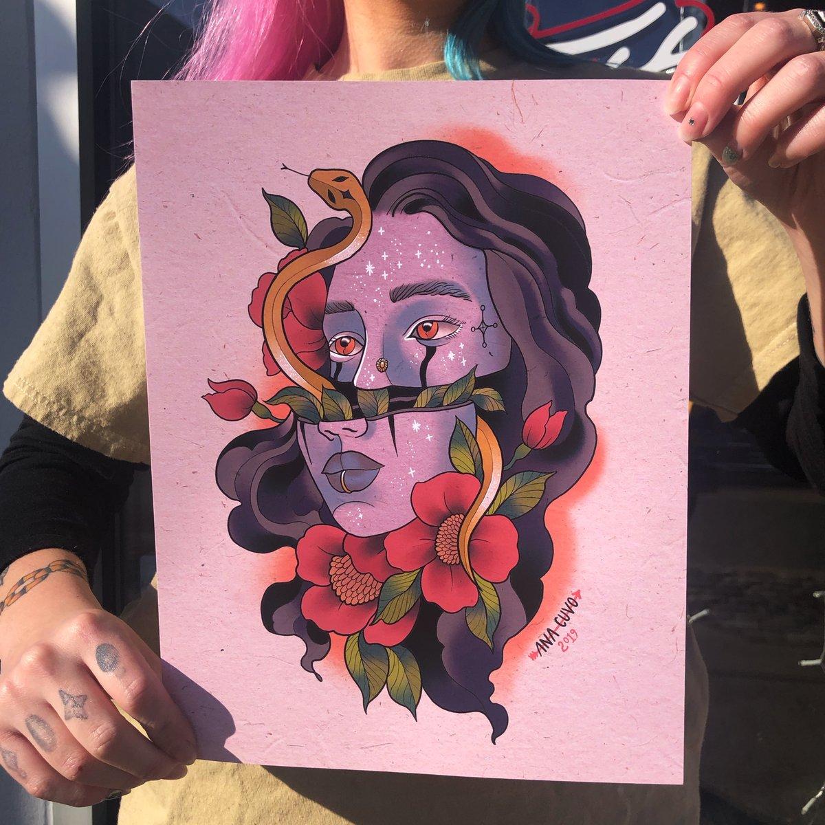 Image of Half Lady Face Print