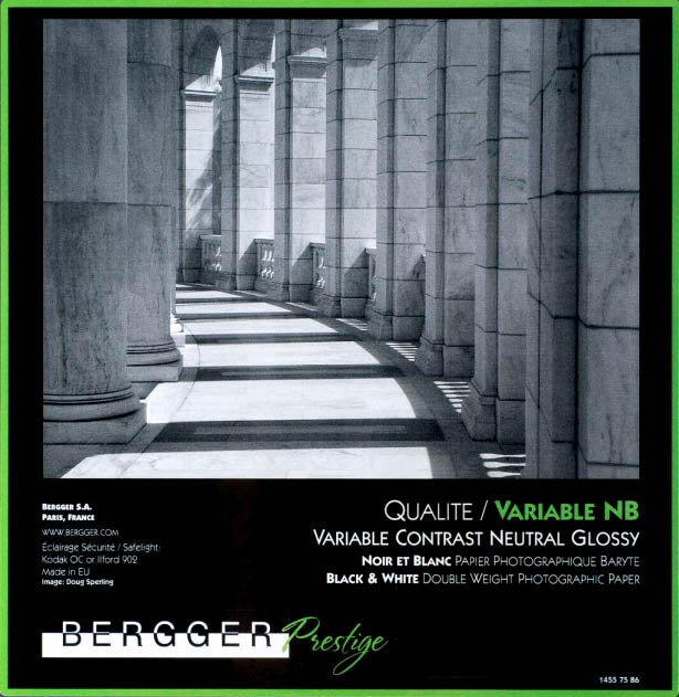 Image of Bergger Prestige Variable NB Baryta Paper (Glossy double weight FB)