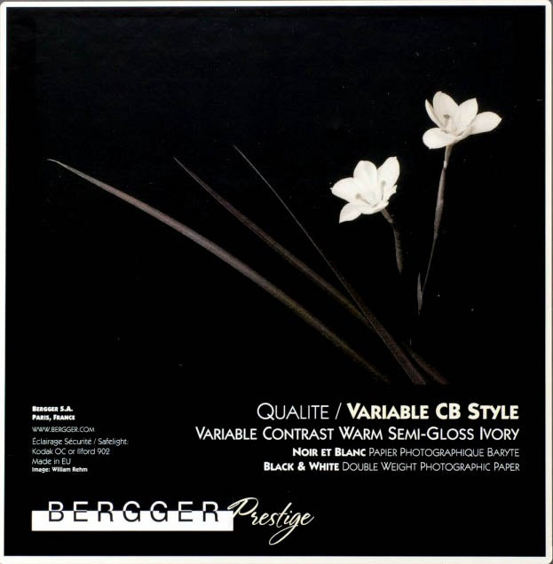 Image of Bergger Prestige Variable CB Warmtone Baryta Paper (Semi Gloss double weight FB)
