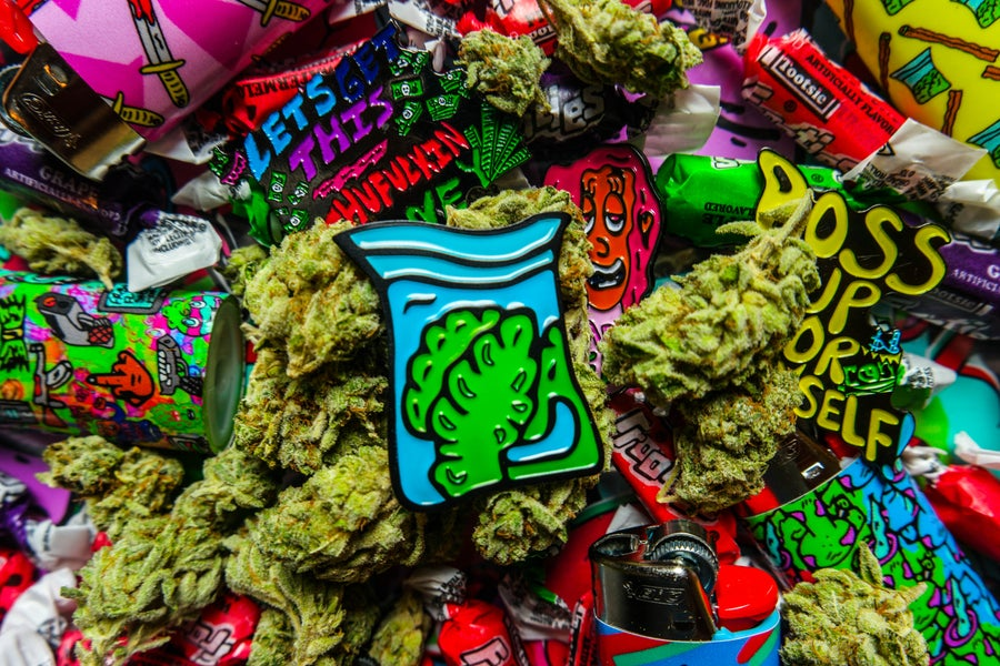 Image of Weed Dime Bag Pin