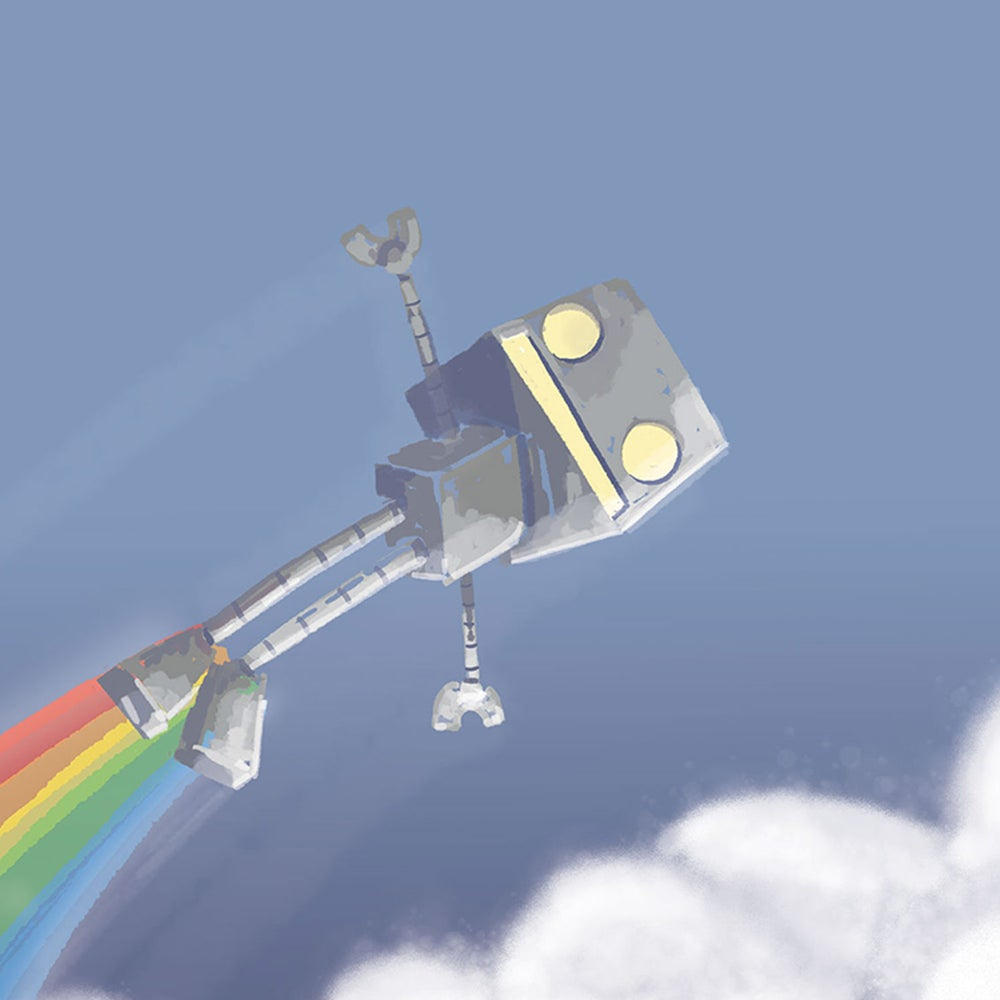 Image of Flying in the Rainbow of Life