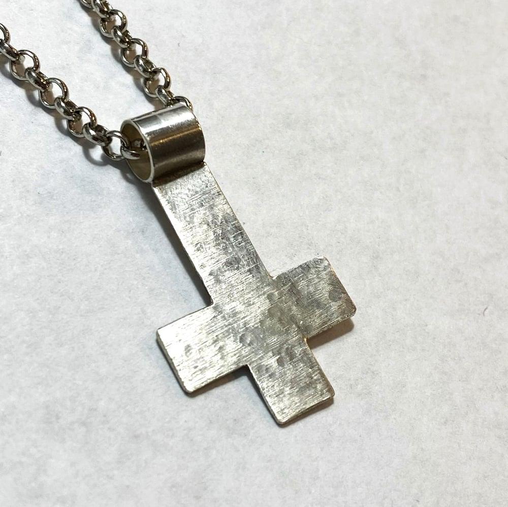 AshemaDeva Custom Sterling Silver Inverted Cross