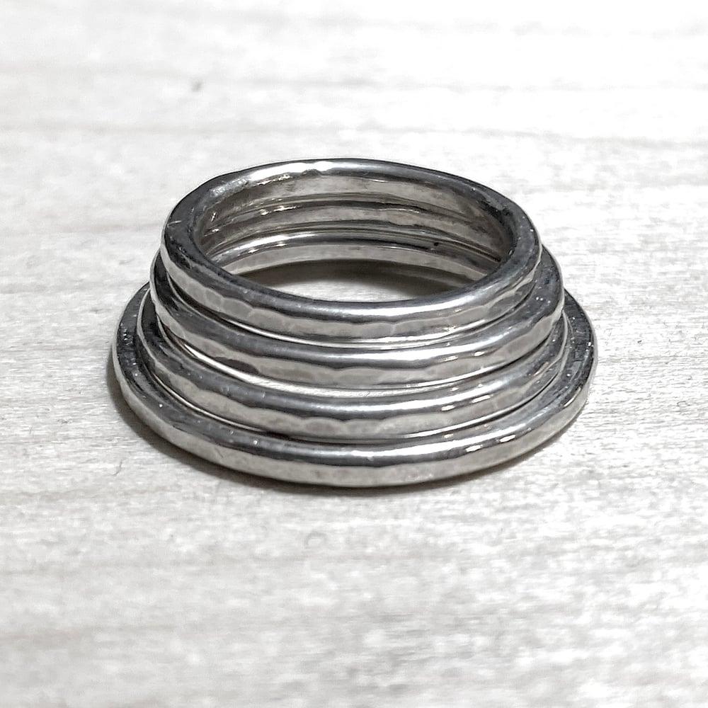 AshemaDeva Custom Hammered Silver Sterling Rings