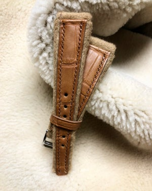 Image of Cashmere&Alligator - limited edition watch strap