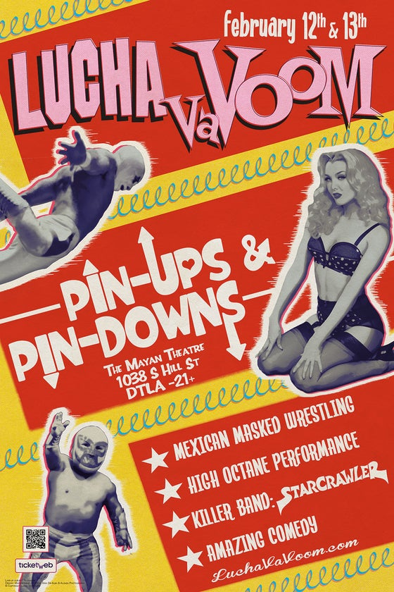 "Image of Valentines 2020 ""Pin-Ups & Pin-Downs"" Poster"