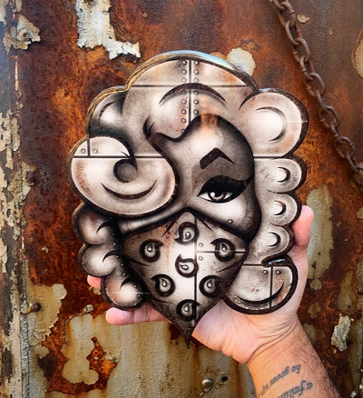 "Image of ""OXIDE""  10in Resin coated wood print (PRE ORDER, SHIPS WITHIN 2- 3 WEEKS)"