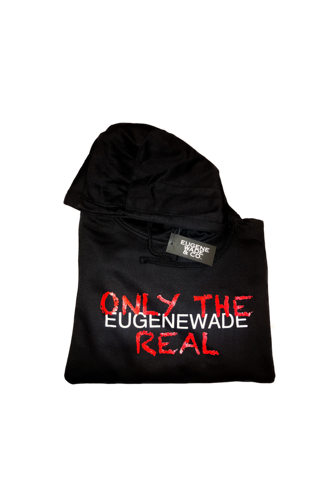Image of ONLY THE REAL (Black Hoodie)