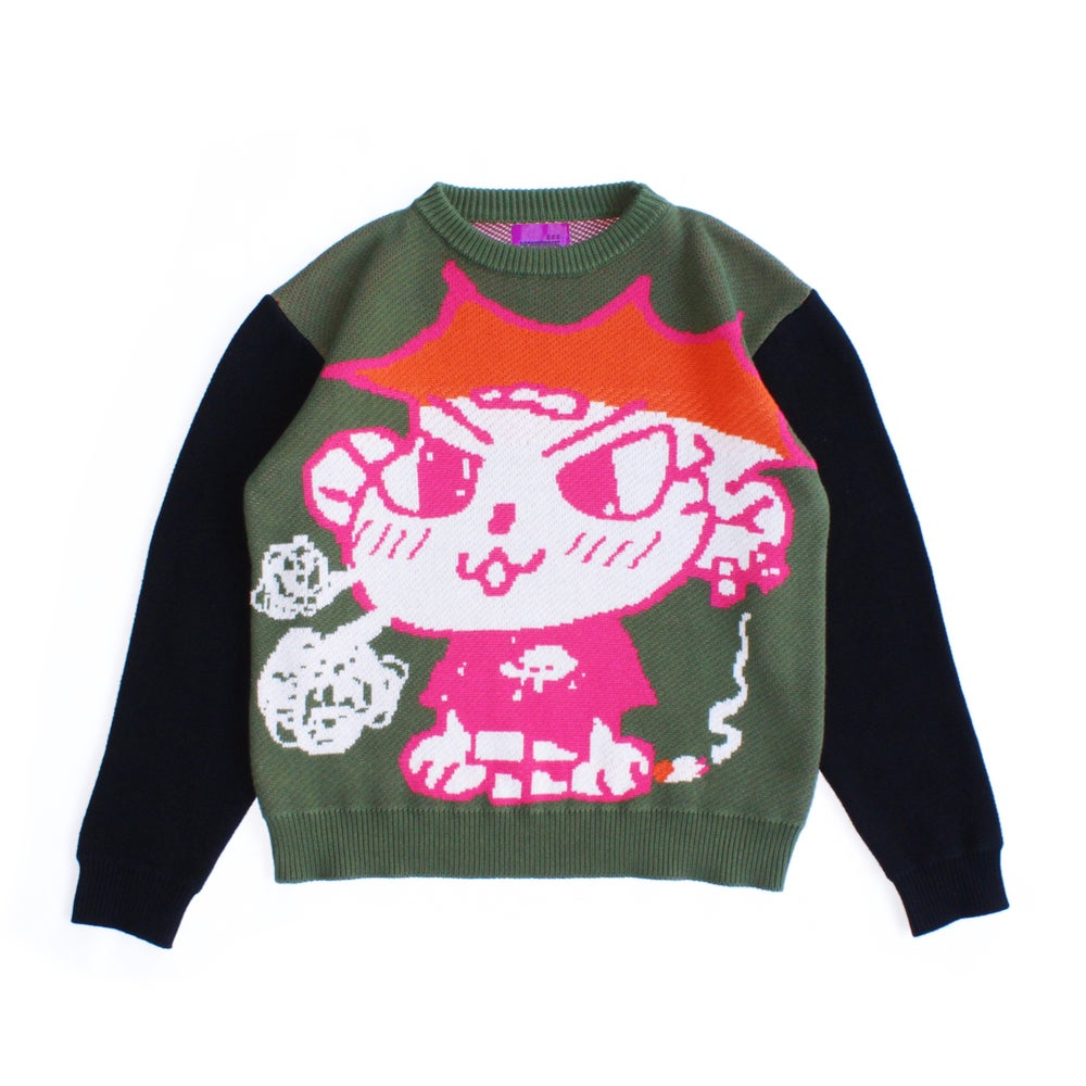 Image of SMOKING DOG KNIT SWEATER