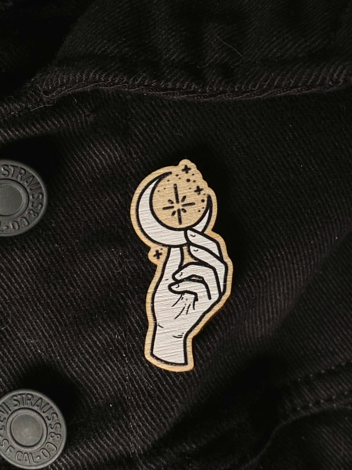 Image of Crescent Wooden Pin