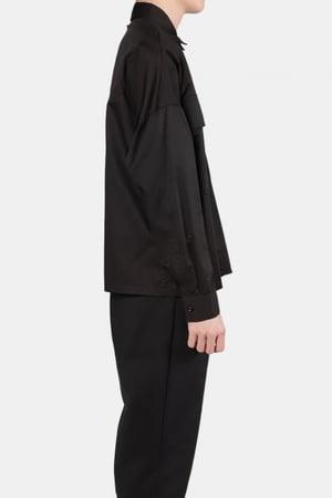 Image of IMMENSE - 雙口袋短版襯衫 (黑)
