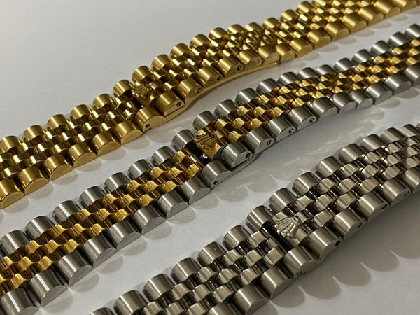 Image of ROLEX 20mm/21mm JUBILEE PRESIDENT GENTS WATCH STRAPS,3 X COLORS,